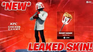 *LEAKED* NEW FORTNITE KFC CHICKEN CHAMP SKIN! HOW TO GET KFC SKIN FOR FREE in 2019! (Fortnite)