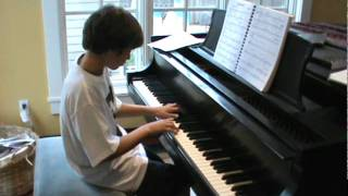 "11 Year old piano student Cameron plays ""Changes"" by David Bowie"