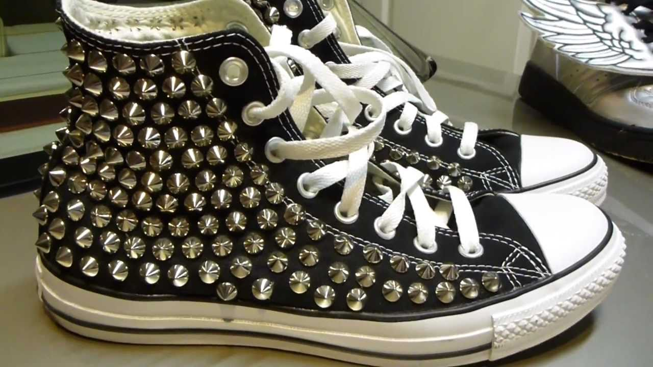 72ae3ee8eccc Studded Converse - YouTube