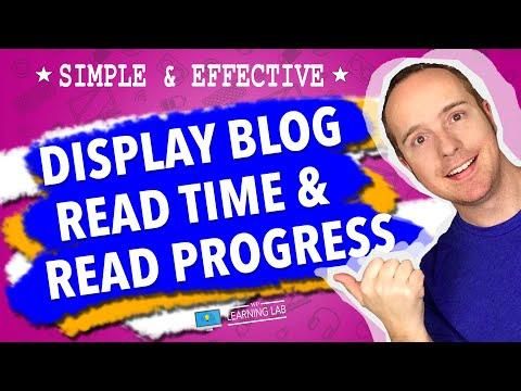 Add Estimated Reading Time And A WordPress Reading Progress Bar (Page Scroll Progress Indicator) thumbnail