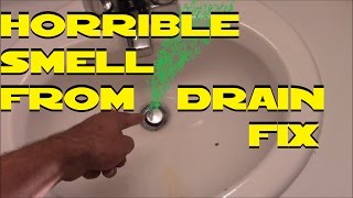 How to fix your stinky drains super easy D.I.Y.