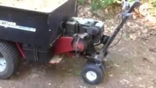 Home Made Motorized Self Propelled Wheelbarrow Dump Trailer Lawn Cart