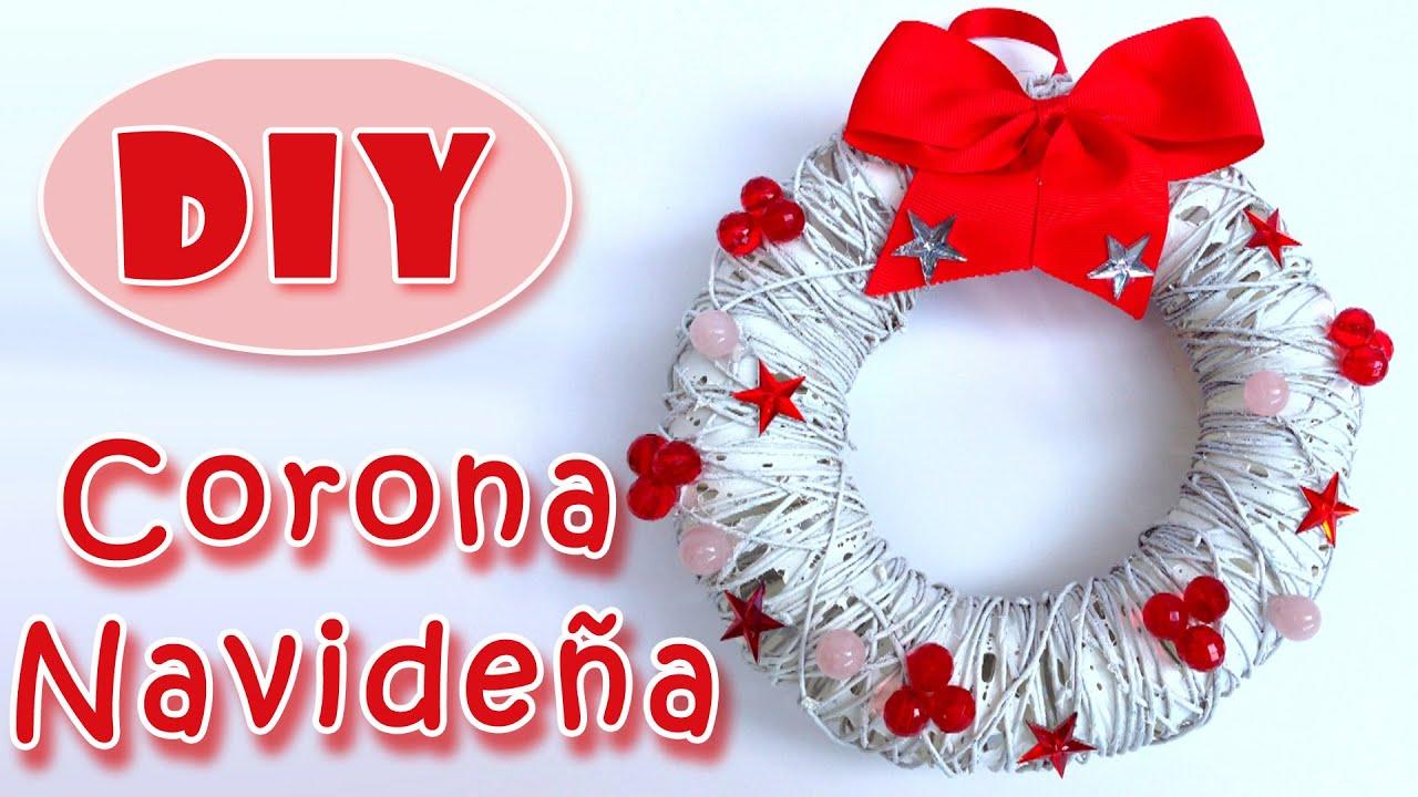 Adornos navide os corona navide a christmas wreath - Manualidades de ganchillo para navidad ...