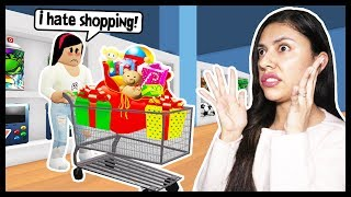 GOING CHRISTMAS SHOPPING FOR MY KIDS PRESENTS! - Roblox Roleplay