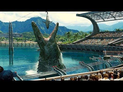Mosasaurus Feeding Show Scene - Jurassic World (2015) Movie Clip HD
