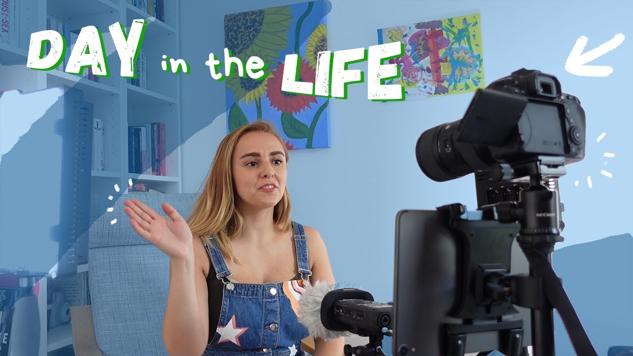Day in the Life Working From Home (YouTuber) | More Hannah