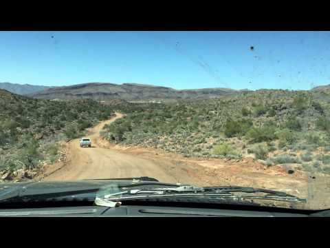 13 Mile Drive from the AMRA Claim in Arizona, Dangerous Drive