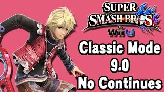 Super Smash Bros. For Wii U (Classic Mode 9.0 No Continues | Shulk) 60fps