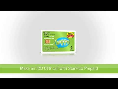 StarHub How-to's: Make an IDD 018 Call with StarHub Prepaid Cards