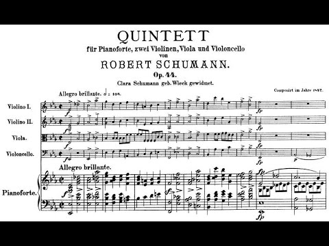 Robert Schumann - Piano Quintet in E flat major, Op. 44