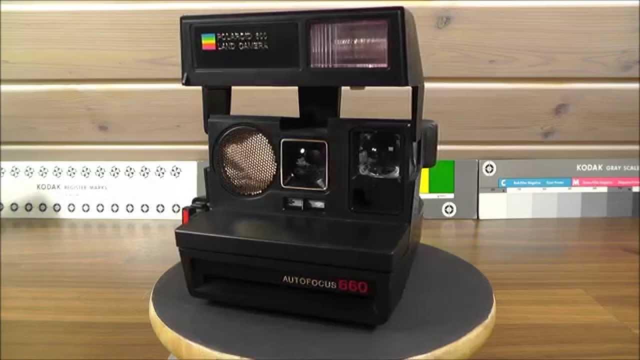 polaroid land camera 600 autofocus 660 youtube. Black Bedroom Furniture Sets. Home Design Ideas