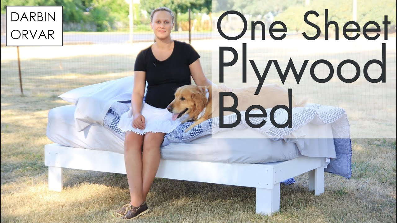 Diy Platform Bed Easy Amp Cheap Darbin Orvar Youtube
