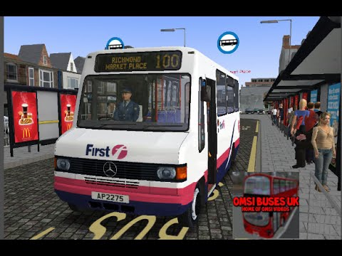 Omsi 2 Humber Buses Route 100 To Richmond Market Place Youtube