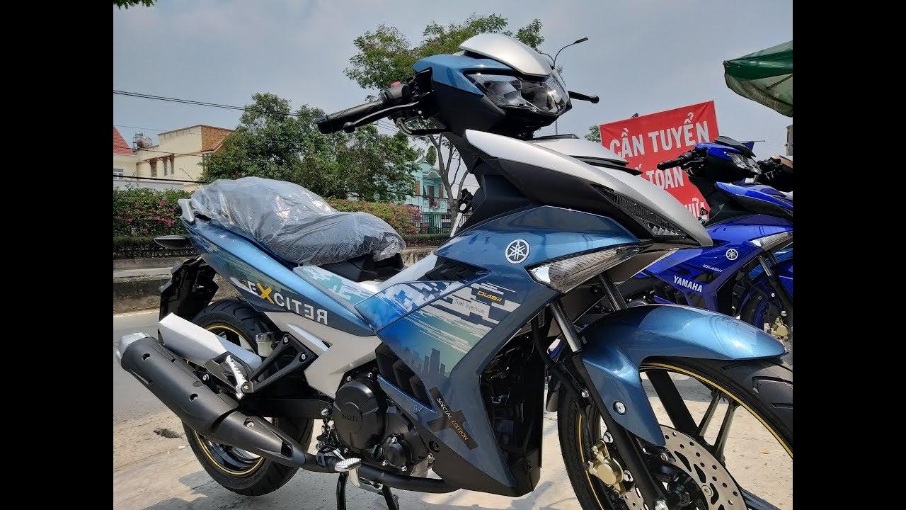 EXCITER 150 MÀU XANH BẠC | CÁCH PHÂN BIỆT XE ZIN | Soi cận cảnh Yamaha Exciter 150 2019 màu xanh bạc