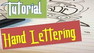 Tutorial menggambar dengan huruf tegak (hand Lettering)