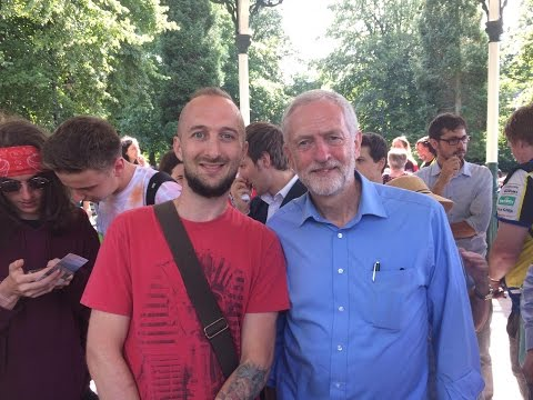 Jeremy Corbyn Rally - Derby, Cathedral Green. 16th august 2016