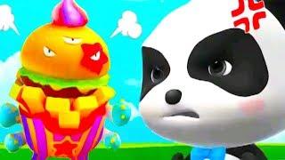 Baby Panda Save The Town | Little Panda Fun Puzzle Cartoon Game For Kids - Baby Panda