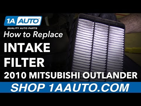 How to Replace Intake Filter 07-13 Mitsubishi Outlander