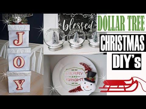 DOLLAR TREE CHRISTMAS DIY - CHRISTMAS DECOR 2018