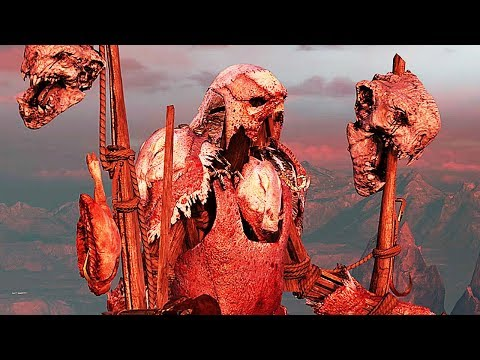 SHADOW OF WAR - HIGH Level 600 SLAUGHTER OVERLORD Meat Hoarder Boss Battle |