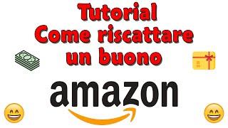 Link Acquisto Buono Regalo Amazon.it http://amzn.to/2Acscr2 Breve video su come si riscatta ed aggiunge un buono regalo amazon al proprio account.