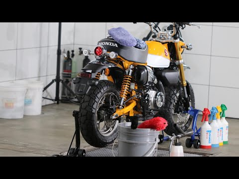 How To Super-Clean A Motorcycle - Safer! Faster! Quicker! Easier! (Honda Monkey pt1/3)
