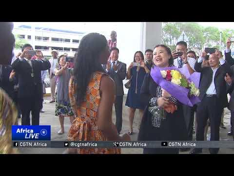 China's new ambassador to Kenya Sun Baohong jets into Nairobi