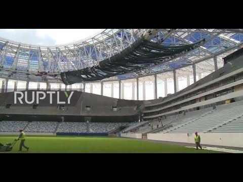 Russia: 45,000 seater 2018 World Cup stadium nears completion in Nizhny Novgorod