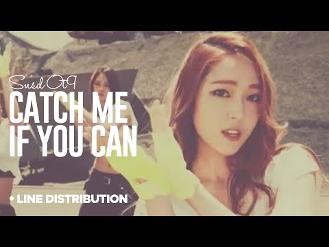 SNSD - Catch me if you can : Line Distribution (OT9 VERSION   Color Coded)