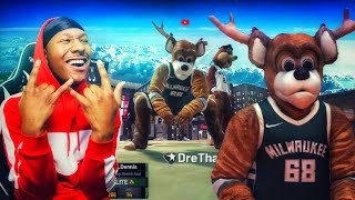 This is what happens when 2 MASCOTS play mypark on NBA 2K19! Best jumpshot 2K19! BEST BUILD 2K19