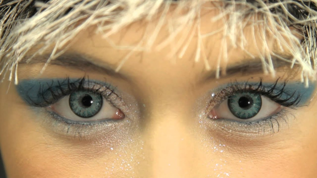 Glamour Aqua Contact Lenses Youtube