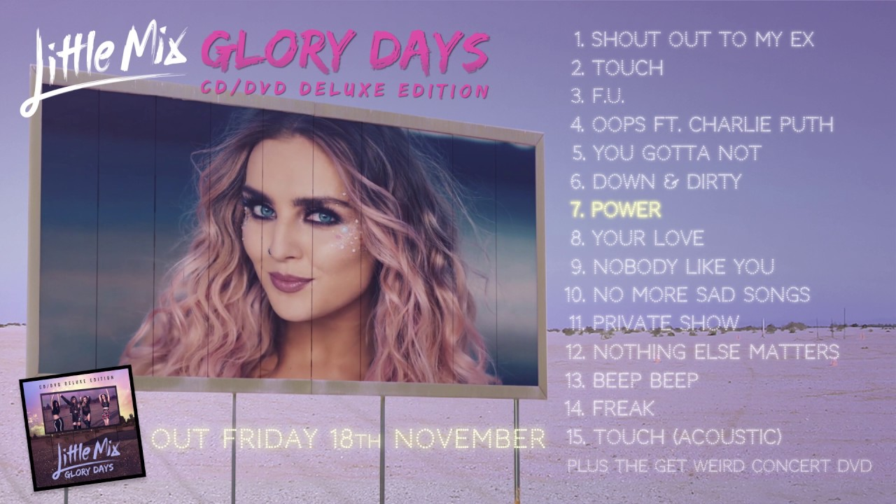 Little Mix 'Glory Days' CD/ DVD Deluxe Album Sampler