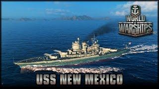 World of Warships - USS New Mexico [ deutsch   gameplay ]