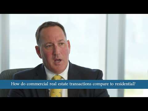 How do commercial real estate transactions compare to residential?