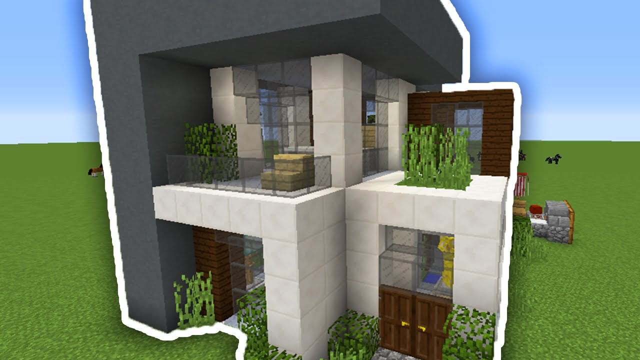 Como construir uma casa iniciante moderna minecraft youtube for Casas modernas para construir