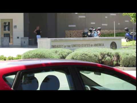 US Delegation Leaves Embassy of US in Skopje