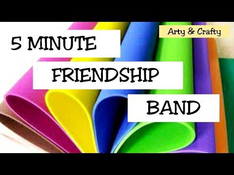 #DIY Friendship Bracelets#How to Make Friendship Band at Home/ Easy Friendship Band / Foam Bracelet