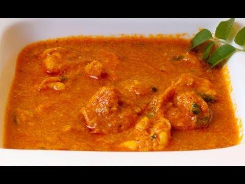 Kolambi Chi Kavalan - Maharastrian Prawn Curry - By VahChef @ VahRehVah.com