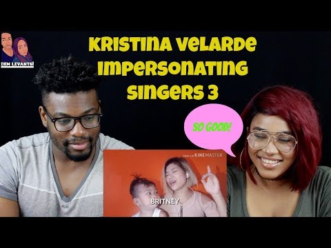 KATRINA VELARDE - IMPERSONATING SINGERS 3 (BURN)| REACTION