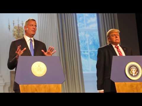 Inner Circle NYC Mayor Bill de Blasio performs TRUMPED 2017 Video by Iris Zimmerman