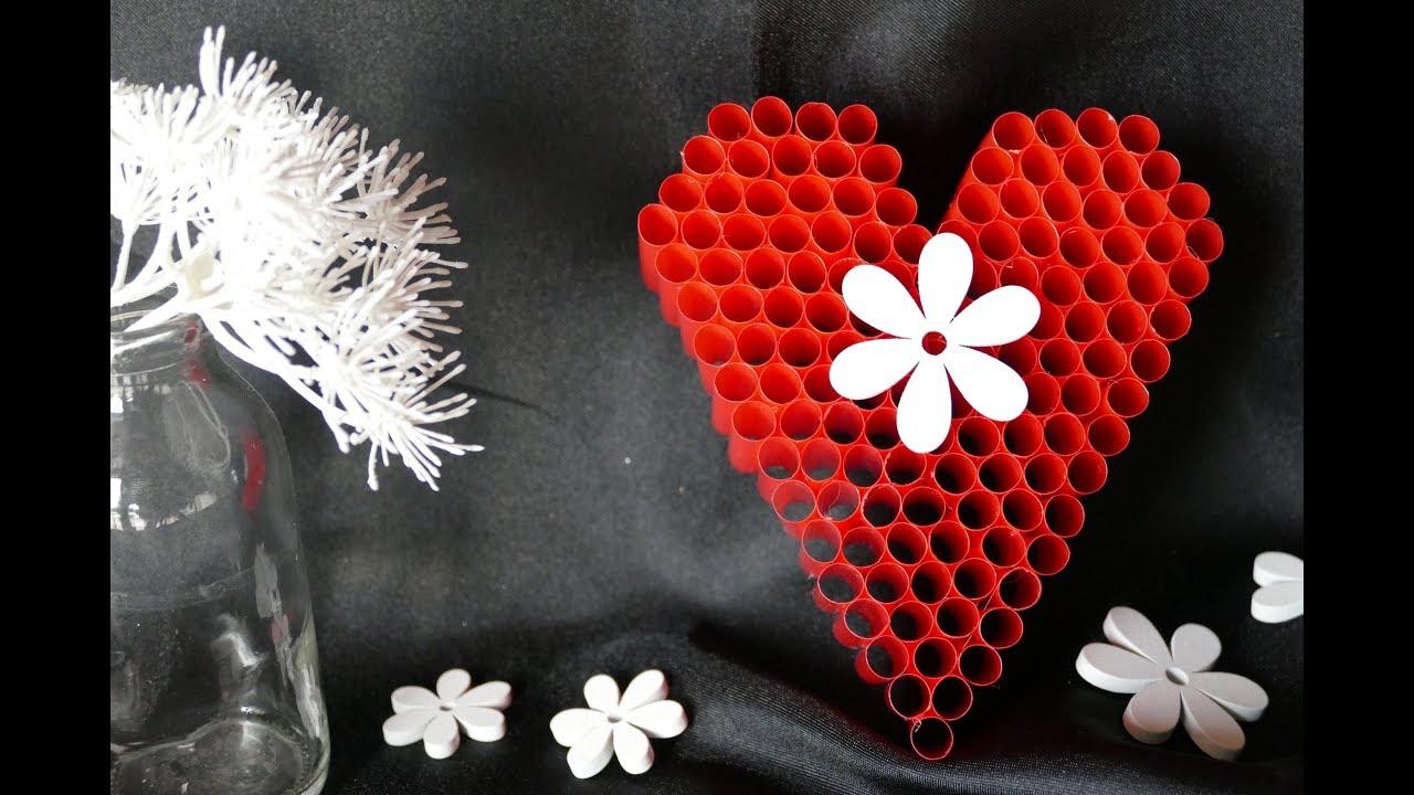 Herz Basteln Diy Herz Valentinstag Muttertag