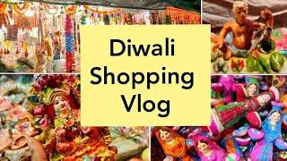 Diwali Shopping Vlog. What Indians In North India Buy to Celebrate Diwali and Laxmi Poojan.