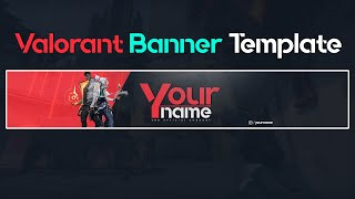 Valorant YouTube Banner Template (PSD FREE)