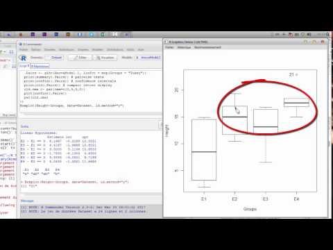 Comment faire le test de ANOVA dans R avec Rcmdr