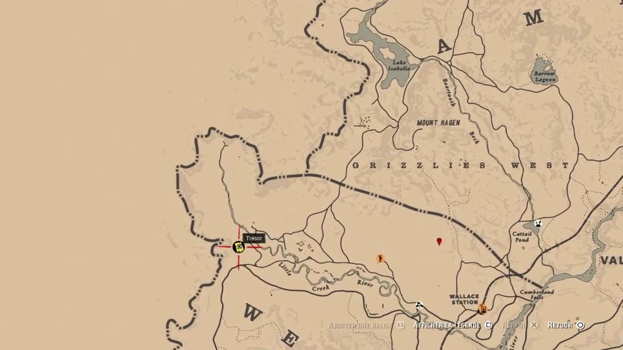 carte au trésor red dead redemption 2 Red Dead Redemption 2 online Carte au tresor Little Creek   YouTube