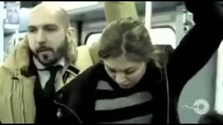 تحرش بفتاة في قطار ...النتيجة ههههههه