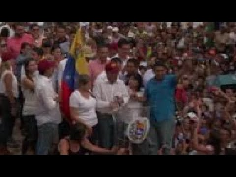 Juan Guaido tours Venezuela's Lara state