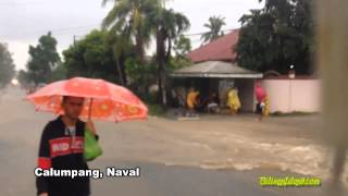 Torrential rains brought in by Henry cause severe flooding in Biliran