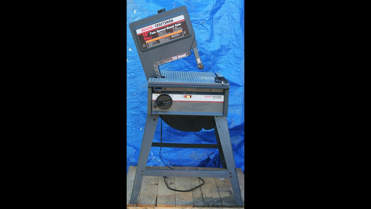 Sears craftsman bandsaw dismantling in reverse order youtube sears craftsman bandsaw dismantling in reverse order keyboard keysfo Images