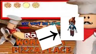 Roblox| Im a cashier!| Work at a pizza place| Thumbnail my first custom made